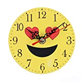 Kinlene Silenzioso Sweep Emoji Emoticon Bell Desk Clock Digitale Creativa (B)
