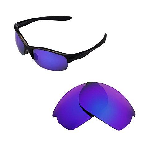 Walleva Ersatzgläser für Oakley Commit SQ Sonnenbrille - Verschiedene Optionen erhältlich, Unisex-Erwachsene Herren, Purple Coated - Polarized, Einheitsgröße