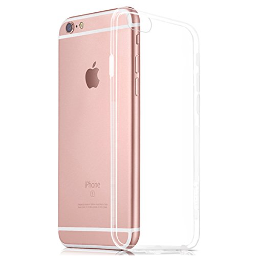 NEW'C Hülle für iPhone 6, iPhone 6s [Ultra transparent Silikon Gel TPU Soft] Cover Case Schutzhülle Kratzfeste mit Schock Absorption und Anti Scratch kompatibel iPhone 6, iPhone 6s - 6 Iphone Soft Case