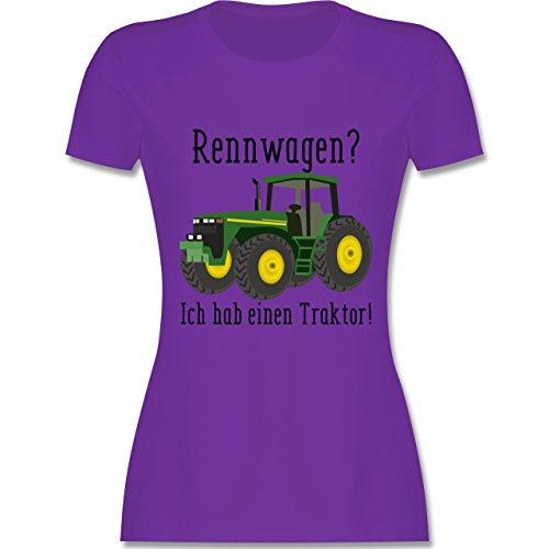 Landwirt - Rennwagen? Traktor! - tailliertes Premium T-Shirt mit Rundhalsausschnitt für Damen Lila