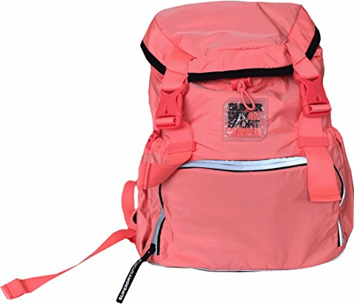 Superdry Super Sport Backpack - Mochila casual rosa Fluro Coral 17 Liters