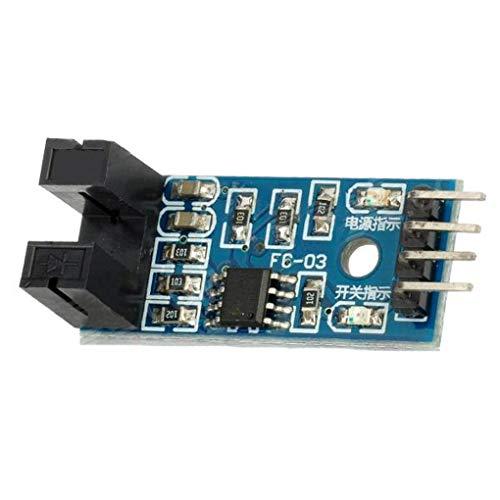 Uokoki 5 x Slot Typ IR Optokoppler Speed   Sensor-Modul LM393 für Arduino