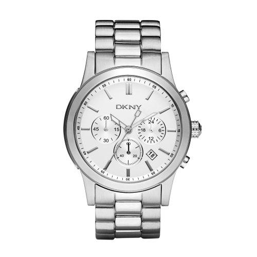 DKNY NY1471 - Reloj para hombres, correa de acero inoxidable color plateado