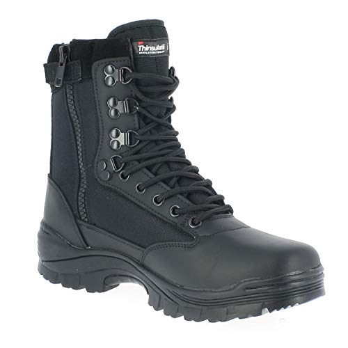 Tactical Boot mit YKK-Zipper schwarz Gr.43/ UK10 (Stiefel Machen Cosplay)