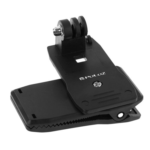 PULUZ 360 Degree Rotating Backpack Hat Rec-mounts Quick Release Clamp Mount for GoPro HERO4 Session /4 /3+ /3 /2 /1 /+LCD