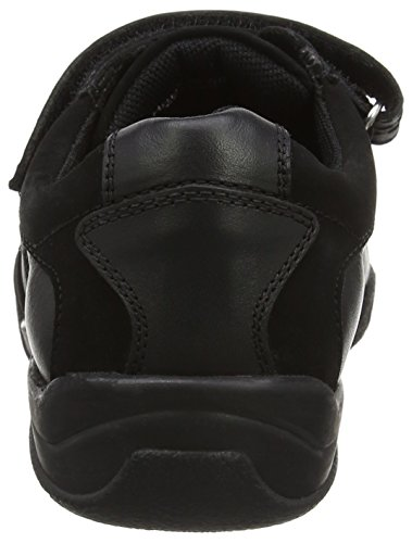 Hush Puppies Seb Senior, Mocassins Garçon Noir (Black)