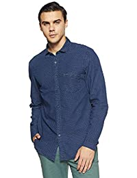 Indigo Nation Street Men's Solid Slim Fit Casual Shirt