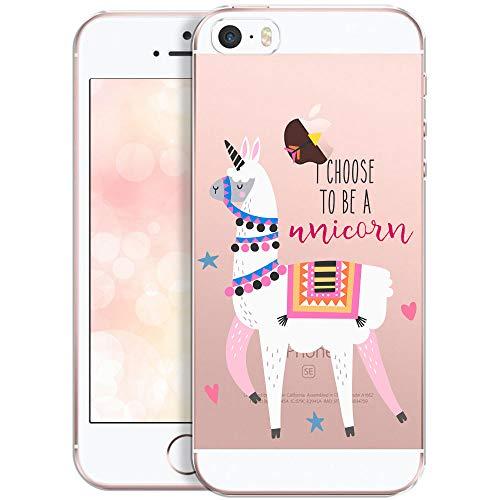 OOH!COLOR Handyhülle kompatibel mit iPhone 5 iPhone SE iPhone 5s Hülle Mädchen Silikon Motiv...