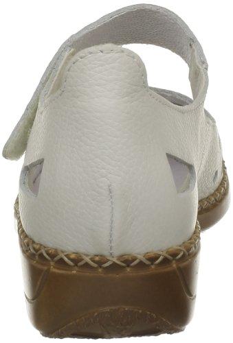 Rieker Doris 41391, Ballerines femme Blanc (Sportweiss)