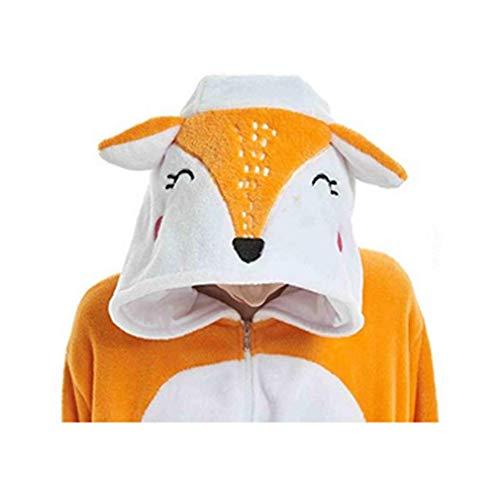 Tier Cosplay Kostüm Einhorn Cosplay Kostüm Onesie Pyjamas Erwachsene Halloween Cosplay Kostüm (Fuchs, M(Höhe 158-167 cm))