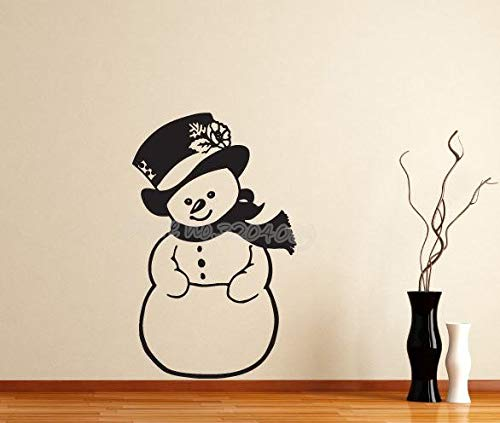 42 * 67cm Snowman Christmas Wall Sticker Vinyl Removalle Holiday Christmas Home Dekoration Kids Room Adhesive Mural Window Decals