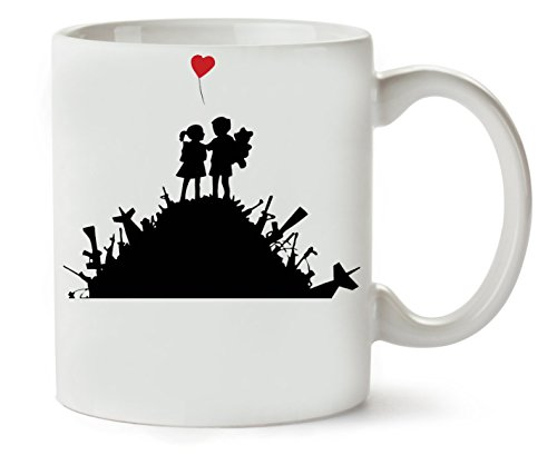 MugWorld Banksy Red Baloon Graphic Klassische Teetasse Kaffeetasse