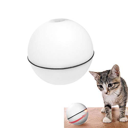 Weesey Elektronische 360   Grad Selbstdrehende Katze Spielzeug Ball Automatische Rolling Ball LED-Licht Haustier Katzenspielzeug