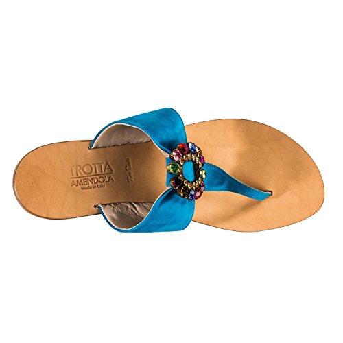 Trotta aMALFI-amendola, sandales femme Blau (Blitzblau)