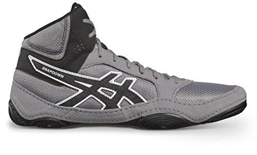 Asics Wrestling Ringer Schuhe Asics Snapdown 2 J703Y 9690, Farbe: aluminium-schwarz-weiß (39 1/2)