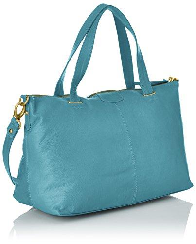Petite Mendigote Leon Damen Schultertaschen Blau (Bleu (Buff Washed Tempête))