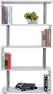 Vordern Wooden Wood S Shape Storage Unit Chest Bookshelf Bookcase Cupboard Cabinet Home Office Furniture New