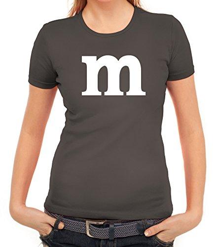 Paar Halloween Kostüme Ideen (Karneval Fasching Junggesellenabschied Damen T-Shirt Gruppen & Paar Kostüm mit M Aufdruck, Größe:)