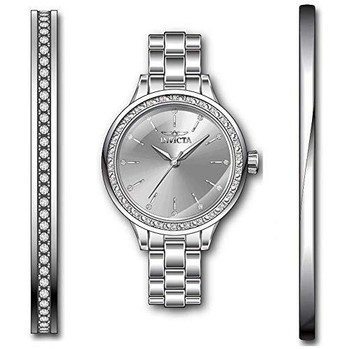 Invicta Angel Reloj de Mujer Cuarzo Correa y Caja de Acero dial Plata 29308