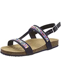 Geox J New Sandal Aloha B, Sandalias con Tira Vertical Para Niñas