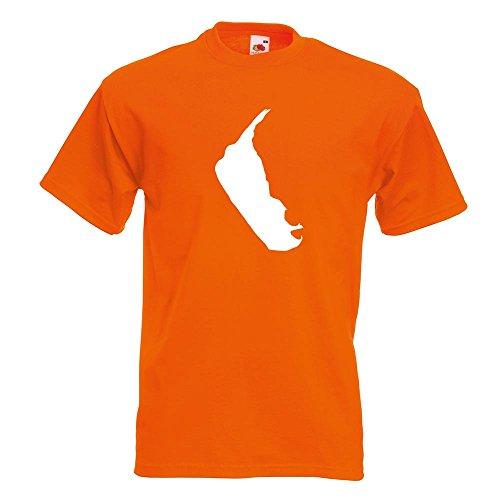 KIWISTAR - Amrum - Deutschland - Insel T-Shirt in 15 verschiedenen Farben - Herren Funshirt bedruckt Design Sprüche Spruch Motive Oberteil Baumwolle Print Größe S M L XL XXL Orange
