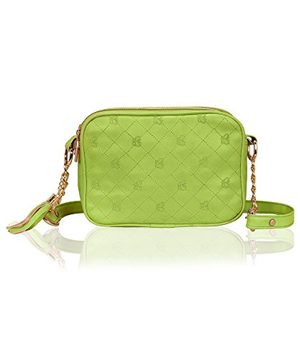 Kleio Designer Double Compartment Cross Body Sling Bag for Girls / Women (Green) (EDK1035KL-GR)
