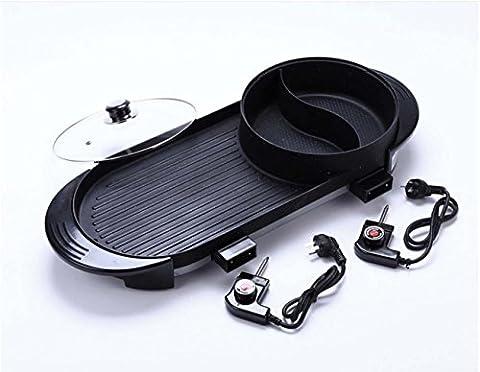 Barbecue Hot Pot Dual Pot Electric Hot Pot Barbecue Grill Electric Pan Multi - Purpose Pot , pot roast pan