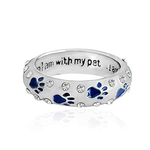 ller Hund Schmuck My with Accessories Ring Trend Pet When Dog I Am Claw Pet Ring nutzbar American für Camping, Picknick und andere Outdoor-Aktivitäten (kein 8 blau) ()