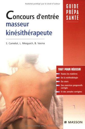 Concours d'entrée masseur-kinésithérapeute