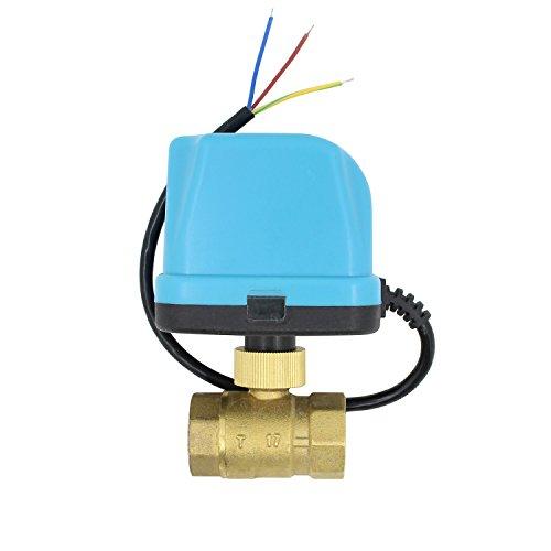 2 wege motorkugelhahn kugelventil elektrisch 12v 24v DC 2 wege ventil elektrisch 1/2 3/4 1 1-1/4 1-1/2 2 zoll (DC 24V, 1-1/2 zoll DN40)