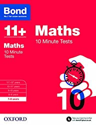 Bond 11+: Maths 10 Minute Tests: 7-8 years