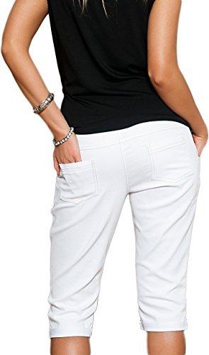 Mija Arts -  Pantaloncini  - Pantalone capri - Donna Bianco