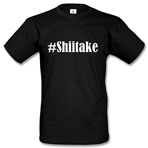 T-Shirt #Shiitake Hashtag Raute für Damen Herren und Kinder ... in den Farben Schwarz und Weiss Schwarz