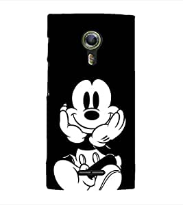 EPICCASE mickey mouse Mobile Back Case Cover For Alcatel One Touch Flash 2 (Designer Case)