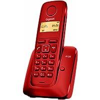 """Gigaset A120 - Teléfono inalámbrico (DECT, pantalla 1.4"""", 50 contactos), color rojo"""