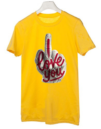 T-shirt I love you (not) - Tutte le taglie by tshirteria Giallo