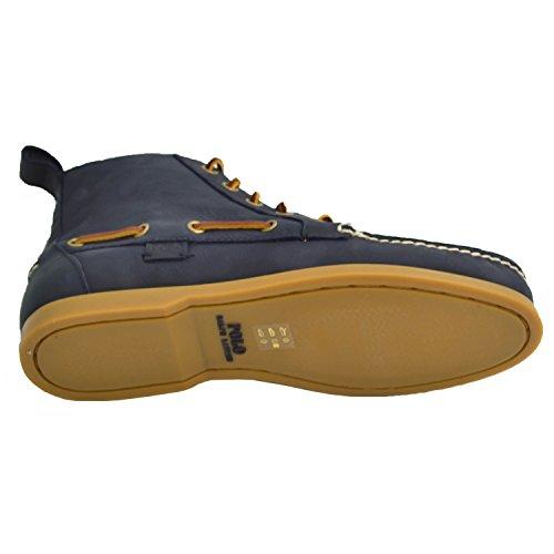 RALPH LAUREN - Chaussures bateau montantes Ralph Lauren bleu marine pour homme Bleu Marine