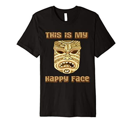 Tiki Maske This is my happy face Maori Polynesische Funny