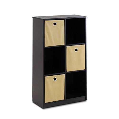 ECON 13087ex/LB Petite Lagerung Organizer Bücherregal mit Mülleimer, Espresso/braun ()