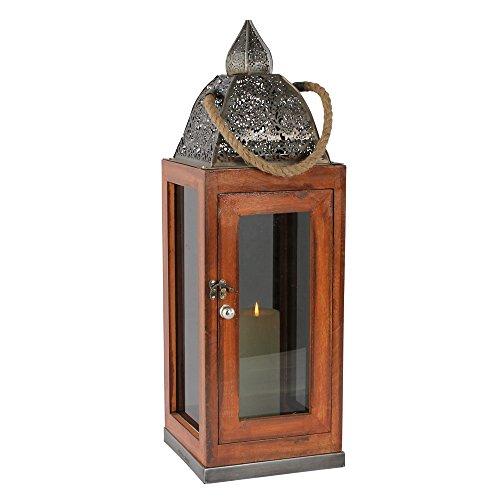 albena shop 74-110 Assa orientalische Laterne Holz/Glas (Gr.L 62 cm)
