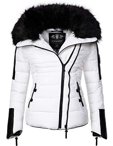 Navahoo Damen Jacke Winterjacke Steppjacke Yuki2 Weiß Gr. M