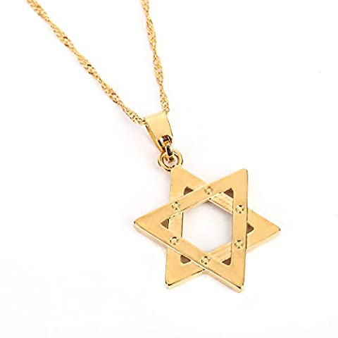 18K Gold Plated Jewish Jewellery Magen Star of David Pendant