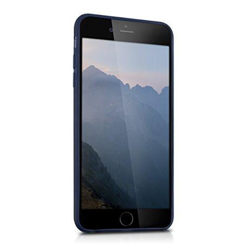kwmobile Étui en TPU silicone élégant pour Apple iPhone 6 Plus / 6S Plus en bleu foncé mat .bleu foncé mat