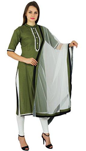 Atasi Frauen Ready-Made Gerade Kurta Mit Einem Netto-Dupatta Indischen Kleid Salwaar Kameez Anzug Benutzerdefinierte Clothing- Größen Verfügbar (Dupatta Salwar Kameez)