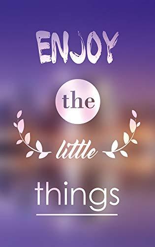 GRAZDesign Glasbilder Wohndekoration Wohnzimmer Enjoy The Little Things, Lebensweisheiten Bild Vintage Lila Violett, Wandbild Sprüche englisch Motivation / 50x80cm