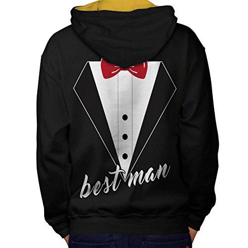 Hochzeit Zeit Beste Mann Bromance Men S Kontrast Kapuzenpullover Zurück | Wellcoda (Ferien Party Kostüme Ideen)