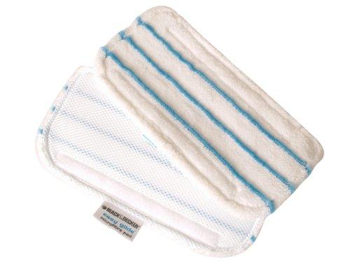 confezione da 2 panni in microfibra per lavapavimenti Black&Decker