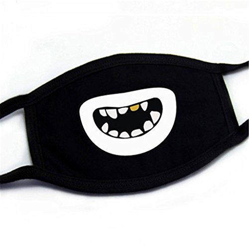 Unisex Creative Muster Mund Gesichtsmaske Baumwolle Radfahren Anti-Staub Atemschutzmaske, 4, 4