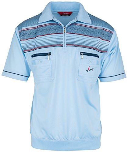 Polohemd Poloshirt für Herren von SOUNON, verschiedene Farben - Größe M bis 5XL Hellblau (M4)