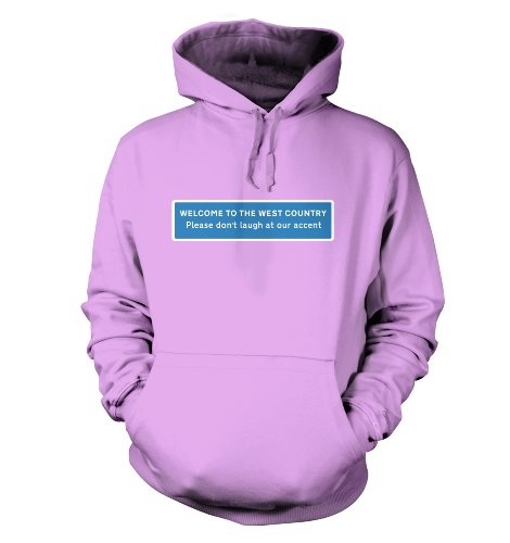 Wilkommen in Südwestengland Männer Banksy T-Shirt Kapuzenpullover für Erwachsene Lavendel